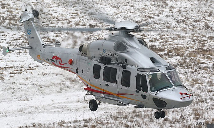 Chinese Avicopter AC352 (ex Z-15) powered with WZ16 (Safran Ardiden 3C) engines performed first flight in Harbin. The seven-ton twin-engine is jointly developed with Airbus Helicopters as the H175