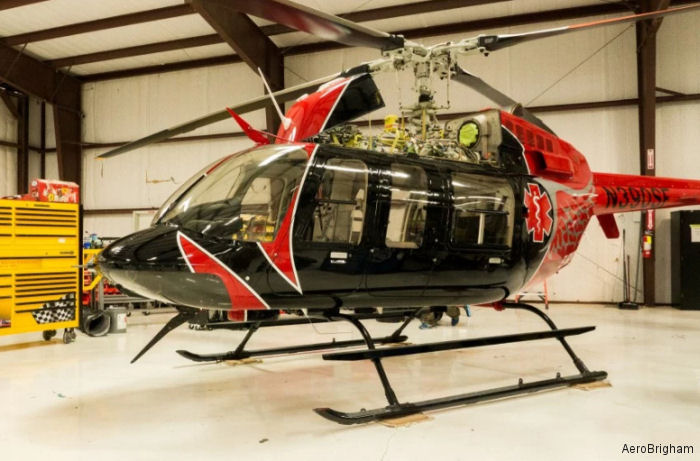 Texas's MRO provider AeroBrigham delivered the fourth Bell 407 in air medical configuration to Mesa, Arizona, based Survival Flight Inc