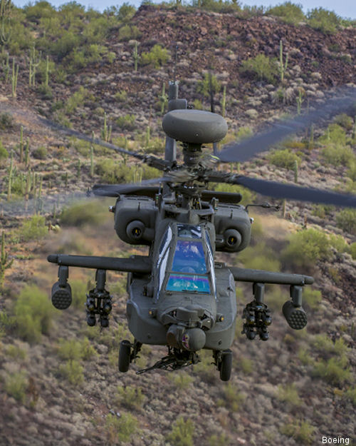 Boeing gained contract to remanufacture 117 AH-64D Apaches to the new  AH-64E model. Agreement including acquisition of Longbow Crew Trainers, logistical support and spares, total $1.5 billion