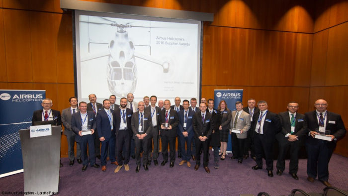 Rockwell Collins, JPC Aviation, Aernnova, Elbit and 12 others recognized by Airbus Helicopters in its second Supplier Awards ceremony