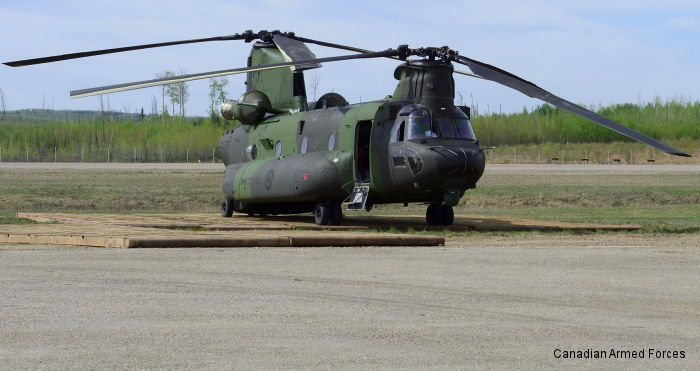 For the first time Canadian CH-147F Chinook operating on a domestic humanitarian operation. Under Operation Lentus, 450 Squadron joins CH-146 Griffons in Province of Alberta emergency response efforts