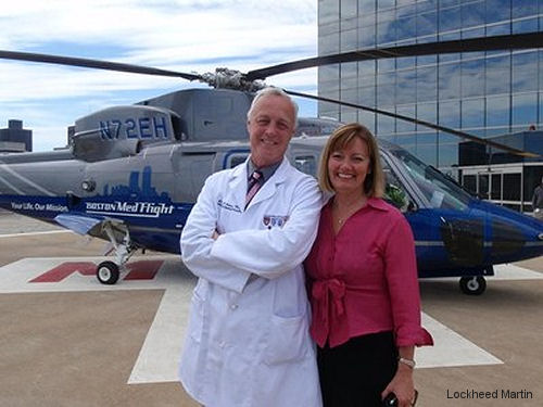 Sikorsky's $5,000 donation for the first annual Dr Suzanne Wedel Scholarship by the MedEvac International Foundation