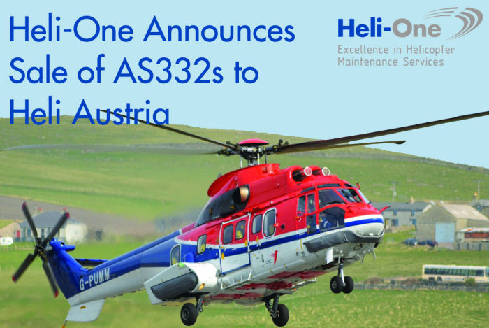 Heli-One Total Solutions Announces the Sale of Three AS332 Helicopters to Heli Austria