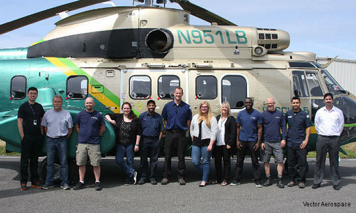 Vector Aerospace, MRO provider, completed 7,500 hour (G-check) and 12-year major inspections for AS332L1 Super Puma helicopter operated by the Los Angeles County Sheriff's Department (LASD)