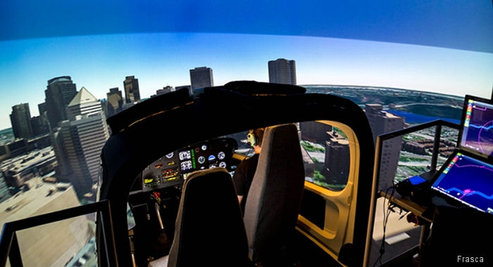 HNZ received Transport Canada approval on their Frasca built AS350 B2 and B3e Level 7 Flight Simulation Training Device (FSTD), the first one to be certified in Canada.