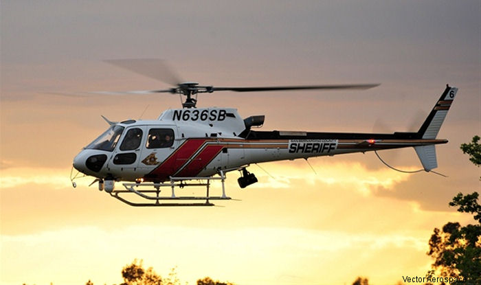 Vector Aerospace has been awarded a contract to perform 12-year inspections on 3 AS350B3 AStars operated by the California San Bernardino County Sheriff's Department