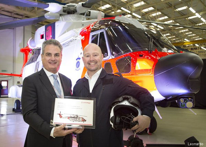 AW101 Norwegian All-Weather SAR Helicopter Unveiled by Norway Minister of Justice and Public Security