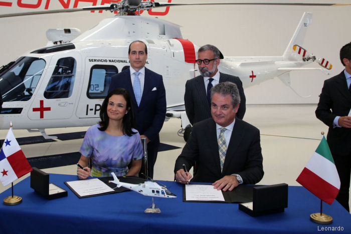 Panama Servicio Nacional Aeronaval (Air Force/Navy joint service) to add a AgustaWestland AW109SP GrandNew EMS (Emergency Medical Services) helicopter