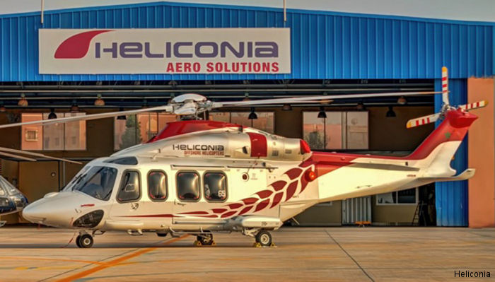 Morocco's Heliconia leased one AW139 helicopter previously operated by CHC to support of oil and gas operations in North Africa