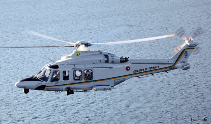 Italy's Guardia di Finanza to receive six new AW139 in 2017-2019 to replace its AB412. The Customs and Border Protection Service already operates 2 helicopters of this model