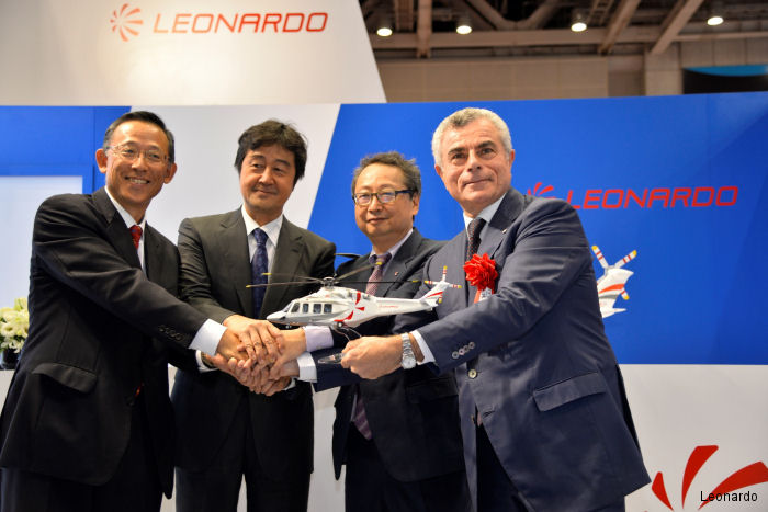GrandNew and AW139 ordered by Nippon TV and Chukyo TV during Japan Aerospace 2016. Also GrandNew received orders for VIP and taxi service in both Japan and Switzerland