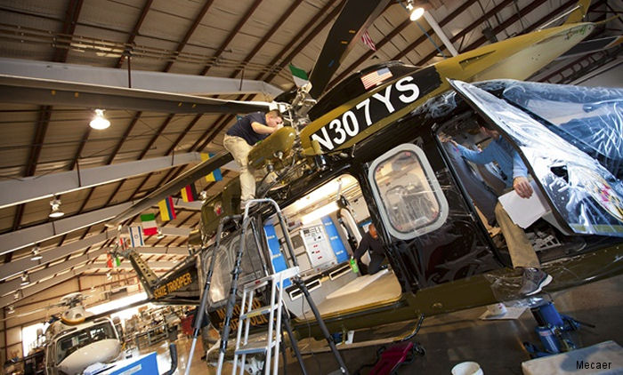 MAG's Northeast Philadelphia facility (PNE)  announced they are performing back-to-back, four-year inspections for the Maryland State Police (MSP) AW139 helicopters