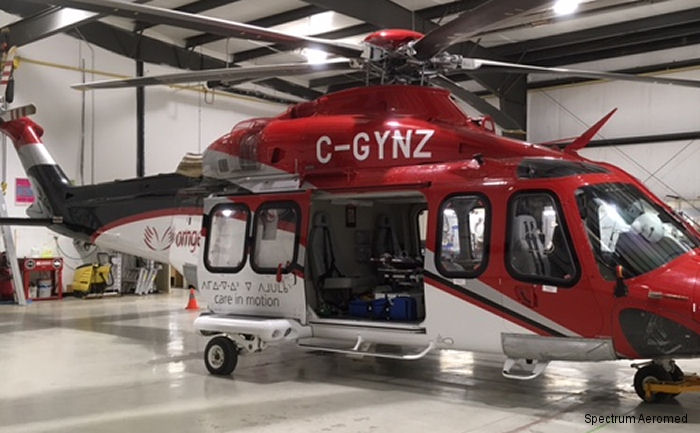 Spectrum Aeromed Equips AW139 for Remote Ornge Base in Moosonee