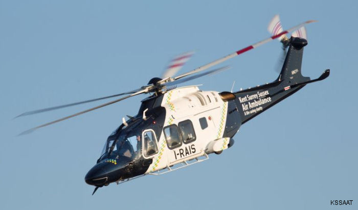 Kent, Surrey & Sussex Air Ambulance Trust (KSSAAT) has taken delivery of a new AgustaWestland AW169 helicopter