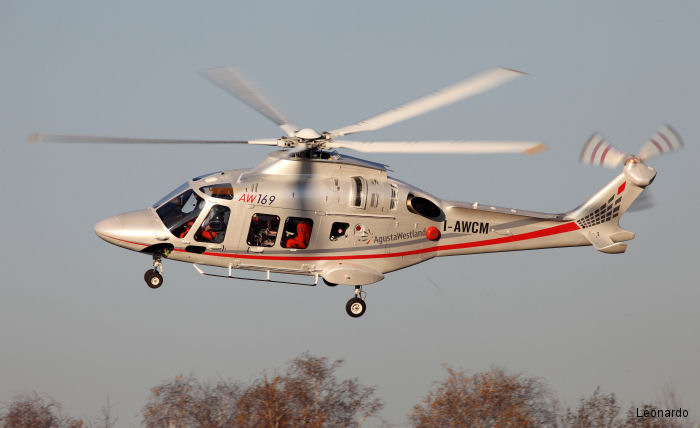 AW169 certification by EASA (European Aviation Safety Agency) for increased maximum gross weight to 4,800 kg (10,582 lb) means extra 200 kg (441 lb) which translates into a 100 nm range extension