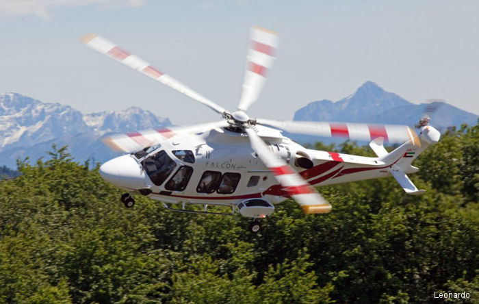 Falcon Aviation of Abu Dhabi (UAE) is the first customer worldwide to use the AW169 for offshore oil and gas transportation