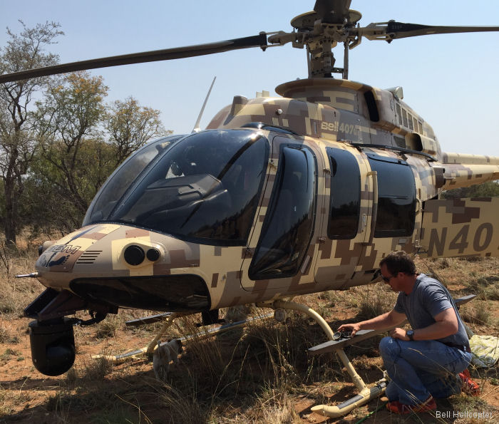 Bell 407GT Helicopter Takes Back the Night from Poachers in South Africa
