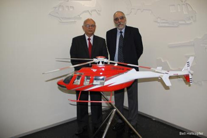 Bell Helicopter announced the first Bell 407GXP purchase in India by Premair, an air charter management company.
