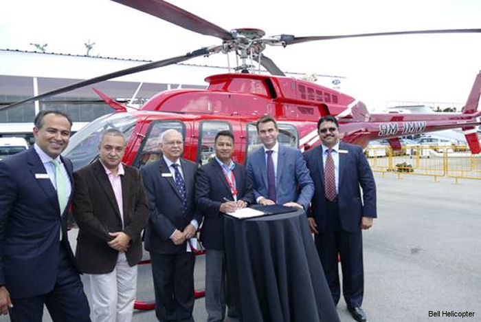Simrik Air Pvt Ltd purchase the first Bell 407GXP in Nepal which will be outfitted for multi-mission capabilities including travel and tourism.