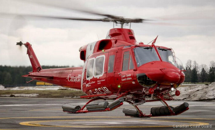 Bell Helicopter Canada delivered first 2 of 7 Bell 412EPi to the Canadian Coast Guard to replace the 5 Bell 212 still in service