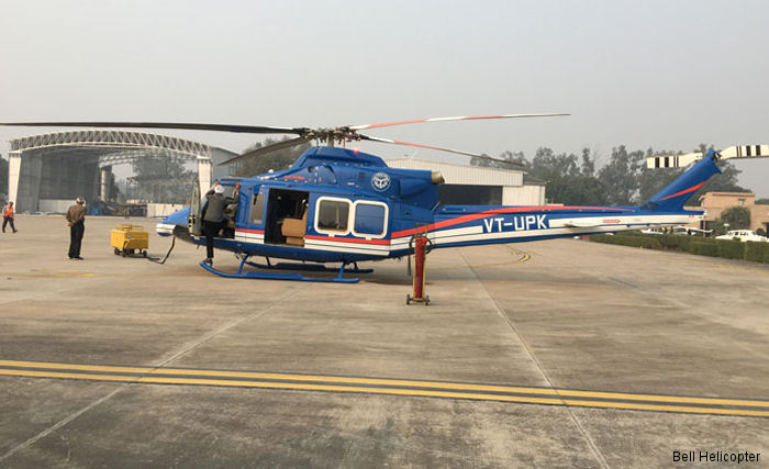 Bell Helicopter announced the delivery of the first Bell 412EP with STC SR09600RC ( Bell 412EPI ) to the Government of Uttar Pradesh in India in VIP configuration.