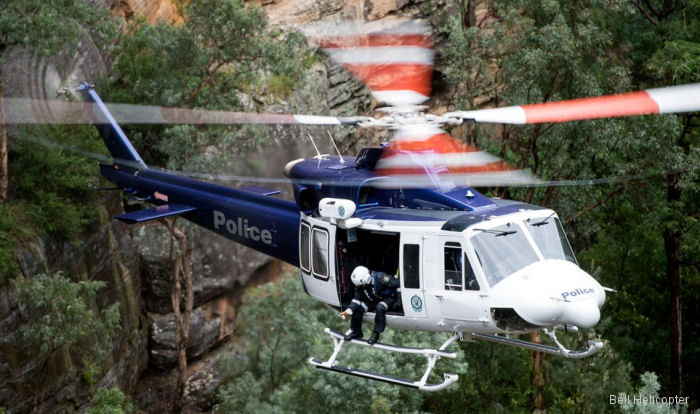 Australia's New South Wales Police to receive a second Bell 412EPi helicopter in 2017. First one received in 2014.