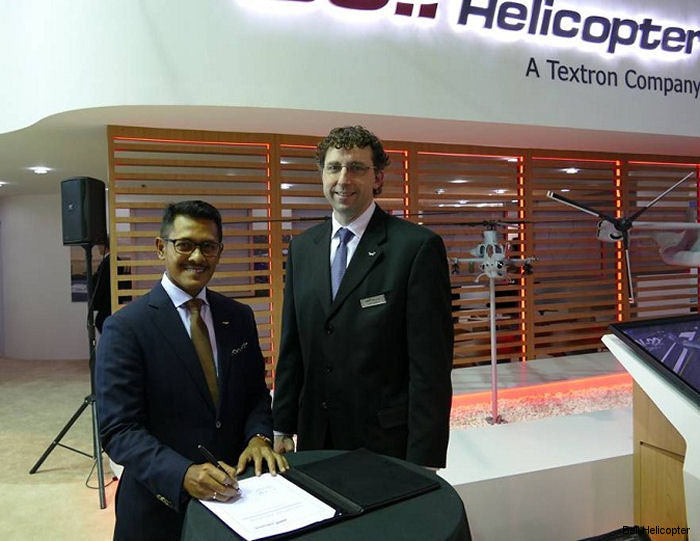 Bell Helicopter and Indonesia s PT Whitesky Aviation signed an agreement for a new aftermarket parts service plan for Bell 407 and 429 helicopters