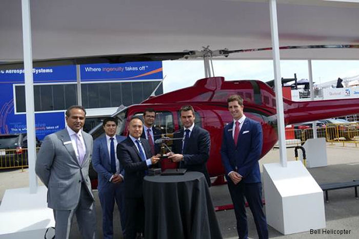 Bell Helicopter announced the first Bell 505 letter of intent (LOI) in the Philippines to PhilJets Group