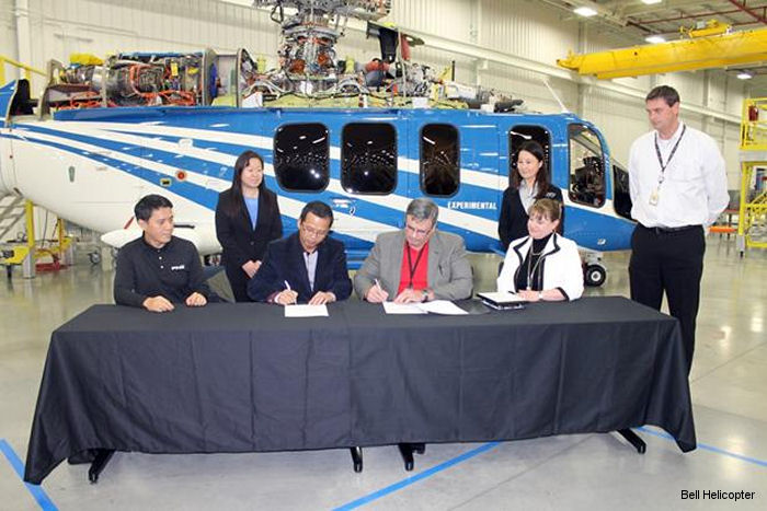 Bell Helicopter Announces Deal with Guangxi Diwang Group for 10 Bell 525s