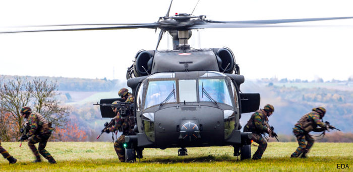 European Defence Agency Black Blade helicopter exercise is hosted by Belgium at Florennes airbase
