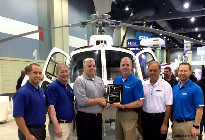 Baltimore County police totaled 15,000 accident-free flight hours in the AS350B3 since putting its AStars into service in 2007 and were recognized by Airbus USA at ALEA 2016 expo.