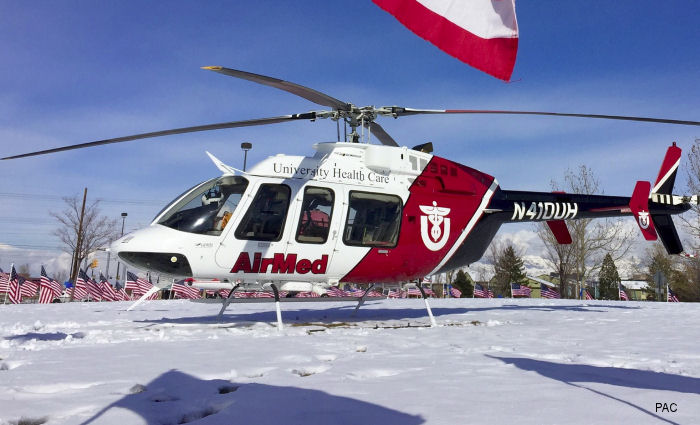 PAC International has been awarded a contract from the University of Utah's AirMed program to provide an EMS interior for their Bell model 407GX