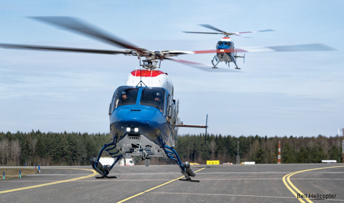 The Swedish National Police (Rikspolisstyrelsen) put into service 7 new Bell 429 helicopters