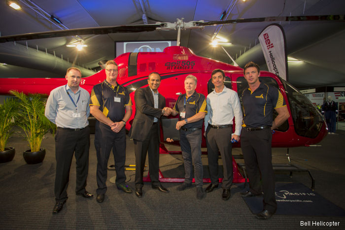 Australia based Professional Helicopter Services (PHS)  will be the first helicopter training school in the region to operate the Bell 505