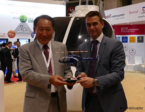 Yuhi Airlines from Japan signed letter of intent (LOI) for a Bell 505 Jet Ranger X to be used for corporate travel and tourism