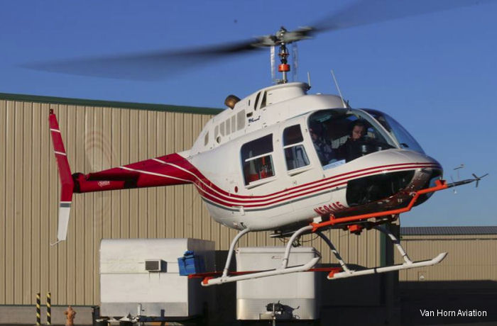 Rotor blade manufacturer Van Horn Aviation (VHA) received a FAA Supplemental Type Certificate (STC) for composite main rotor blades fitting the Bell 206B JetRanger helicopter