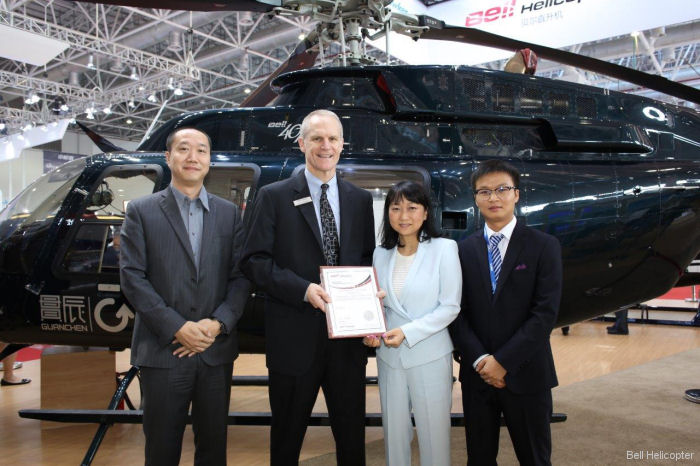 Zhenjiang Aerochine Aviation Limited from Zhenjiang City, Jiangsu Province, has been announced as Bell Helicopter's newest Authorized Customer Service Facility (CSF) for the Bell 407 in China