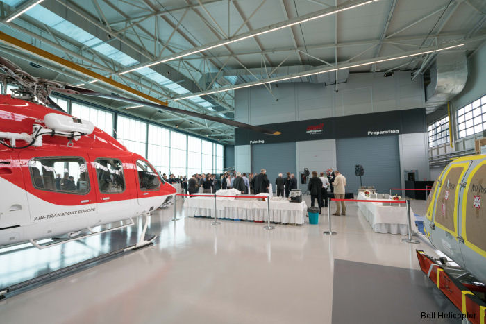 Bell Helicopter Prague location opened a new paint facility and delivery center –providing full aircraft completion and delivery capabilities to its European customers.