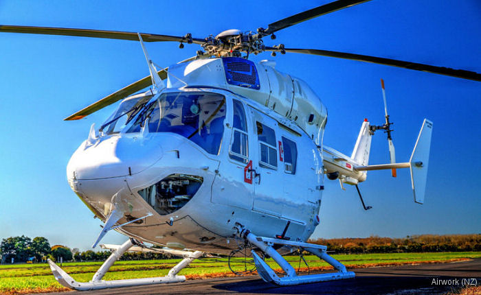 Airwork (NZ) has delivered in the last months three more upgrades on the Bk117B2 helicopter to the Bk117‐850D2 type powered with the LTS101‐850B‐2 engine