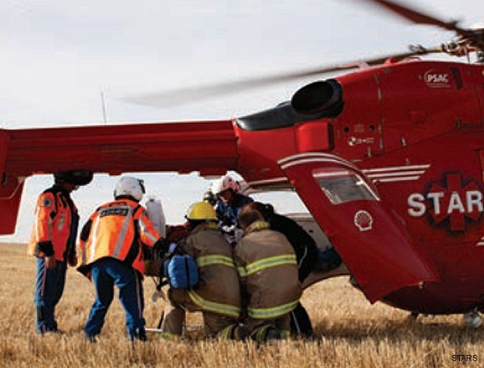 The Shock Trauma Air Rescue Service (STARS) is the first air medical program in Canada to begin stocking blood in advance for life-saving transfusions