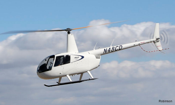 Flight school Sky Helicopters in Garland, Texas received 2 R44 Cadet helicopters