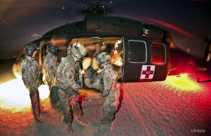 US Army Aeromedical Research Laboratory ( Aviation and Missile Research, Development and Engineering Center, AMRDEC ) tests carry-on medical devices used on 600 H-60 MEDEVAC Black Hawk helicopters