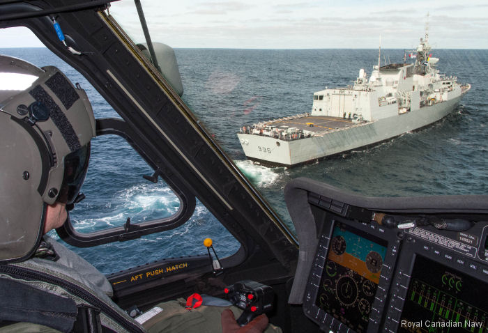 Royal Canadian Navy's new helicopter CH-148 Cyclone conducted its first anti-submarine warfare (ASW) exercise with HMCS Windsor off the coast of Nova Scotia