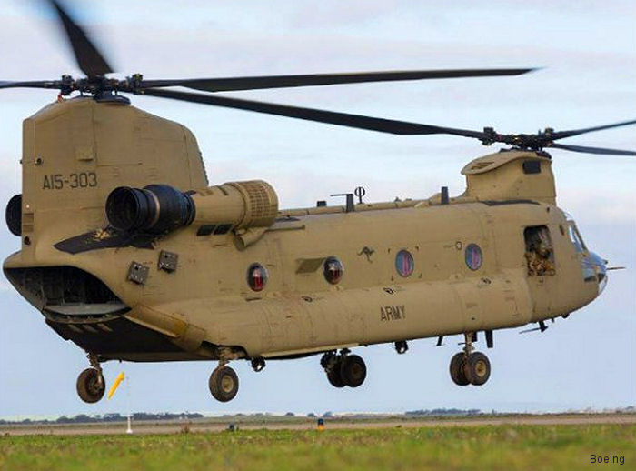 Boeing delivers the first CH-47F Chinook Maintenance Blended Reconfigurable Aviation Trainers (MBRATs) to the Australian Army Aviation Training Centre at Oakey
