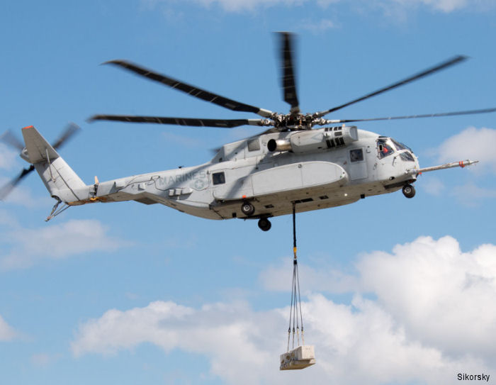 The CH-53K completed first heavy load lift test