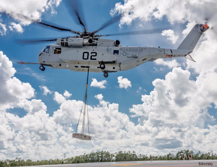 U.S. Marines completes  its two-week initial operational test period, called OT-B1, with the new CH-53K King Stallion helicopter at   Sikorsky's Flight Center in West Palm Beach, Florida