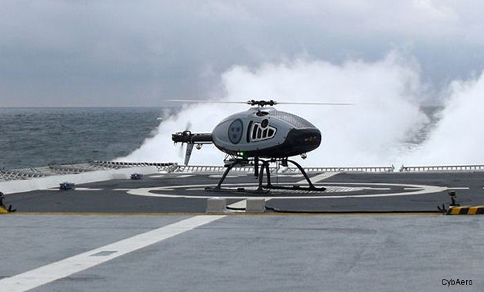 The  unmanned helicopters are equipped with a deck-landing system developed together with Airbus that allows automatic takeoff and landing from ships.