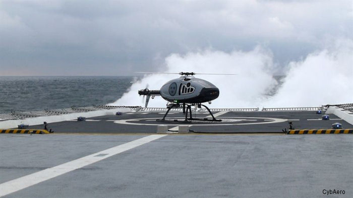 CybAero APID unmanned helicopter completed test flights from HMS Karlstad, a Swedish Visby-Class corvette