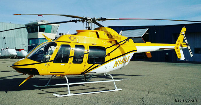 Helicopter Express Inc received its first Eagle Copters Bell 407HP powered with the Honeywell HTS900 engine