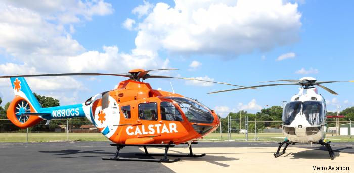 Metro Aviation delivered to California Shock Trauma Air Rescue (CALSTAR) the first of five H135 air medical transport helicopters. These are the first EC135P3 in USA